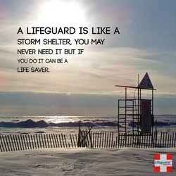 A LIFEGUARD IS LIKE A 
