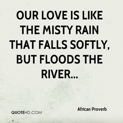 OUR LOVE IS LIKE 
