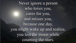 Never ignore a person 