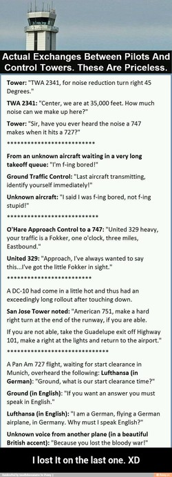 Actual Exchanges Between Pilots And 