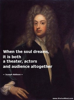 When the soul drea s, 