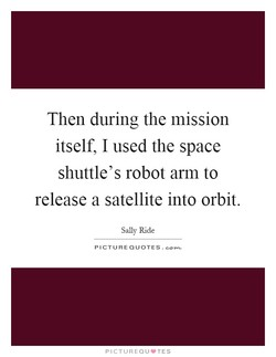 Then during the mission 