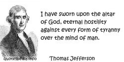 I have sworn upon the altar 