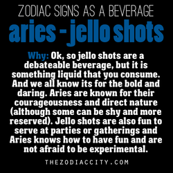 ZODIAC SIGNS AS A BEVERAGE 