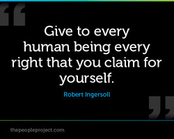 Give to every 