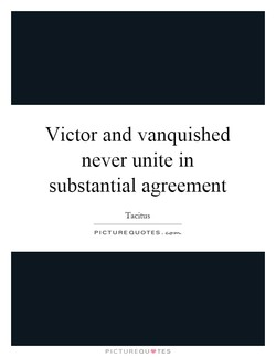 Victor and vanquished 