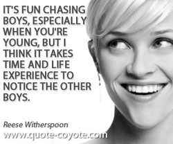 ITS FUN CHASING 