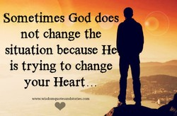 Sometimes God does 
