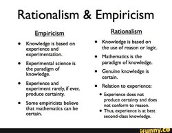 Rationalism & Empiricism 