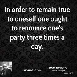 In order to remain true 