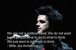 Wea nota olitical and. We do not want 