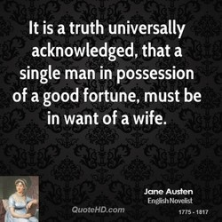 It is a truth universally 