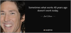 Sometimes what works 40 years ago 