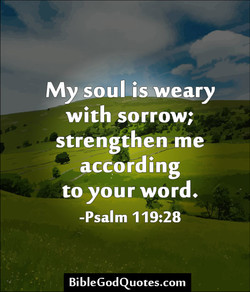 My soul is-weary 