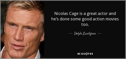Nicolas Cage is a great actor and 