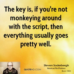 The key is, if you're not 