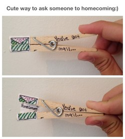 Cute way to ask someone to homecoming:) 