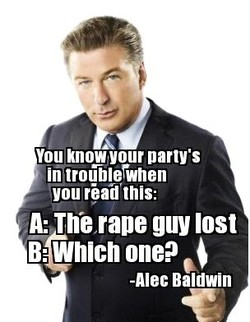 You knowyour party's 