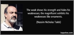 The weak shows his strength and hides his 