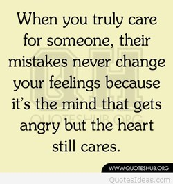 When you truly care 
