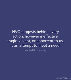 NVC suggests behind every 