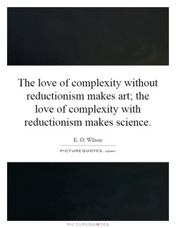 The love of complexity without 