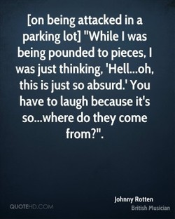 [on being attacked in a 