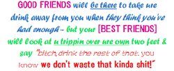 GOOD FRIENDS to 