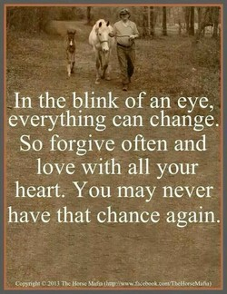 In the blink of an eye, 