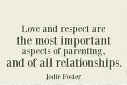Love and respect are 