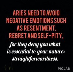ARIES NEED TO AVOID 
