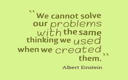 We cannot solve 