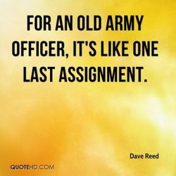 FOR AN OLD ARMY 
