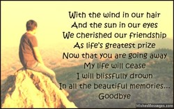 With the wind in our hair 