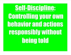 Self-Discipline: 