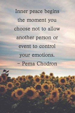 Inner peace begins