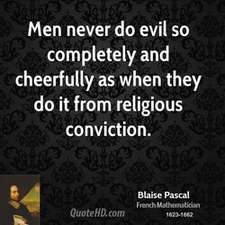 Men never do evil so 
