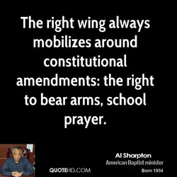 The right wing always 