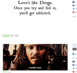 Love's like Drugs. 
