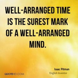 WELL-ARRANGED TIME 