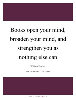 Books open your mind, 
