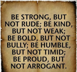 BE STRONG, BUT 