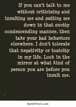 If you can't talk to me 