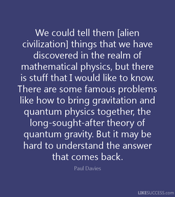 We could tell them [alien 