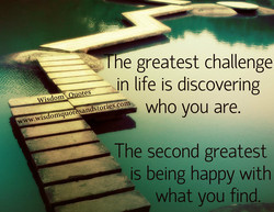 e greatest challenge