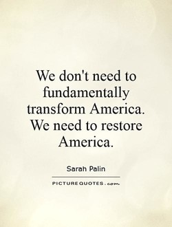 We don't need to 