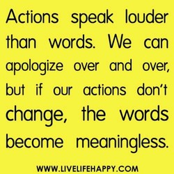 Actions speak louder 