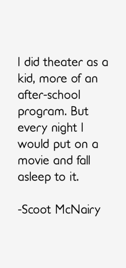 I did theater as a 