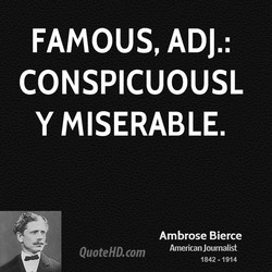 FAMOUS, ADJ.: 
