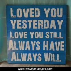 LOVED YOU 